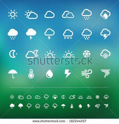 weather icon set .Illustration eps10