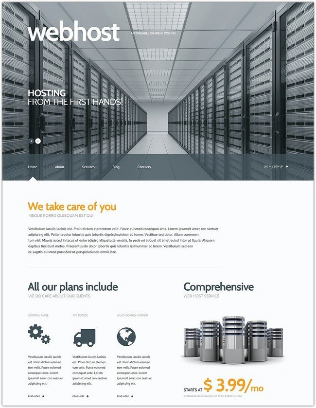 web Hosting Responsive WordPress Theme