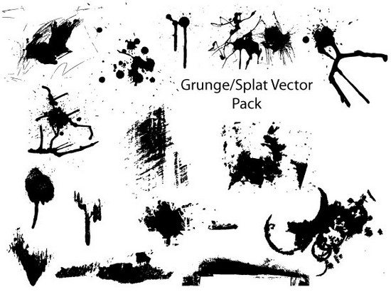 08 Grunge and Splatter Vector Pack