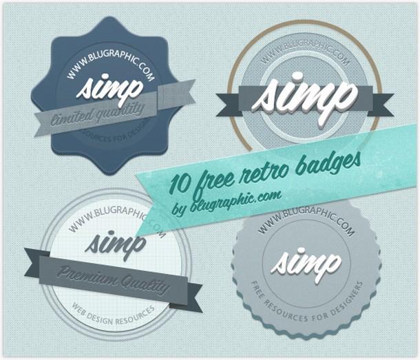 10 Free Vintage Retro Badges