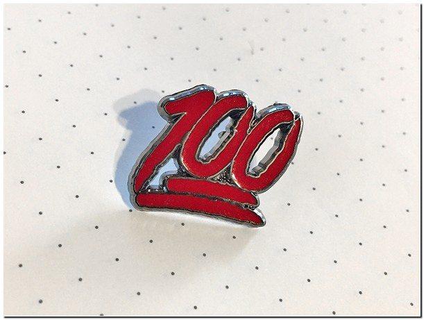 100 - Enamel Pin Mockup