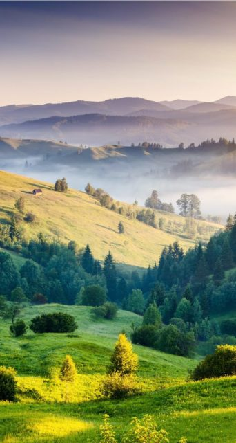 Green Mountains Iphone Landscape Wallpaper