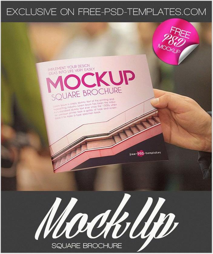 2 Free Square Brochure Mock-ups in PSD