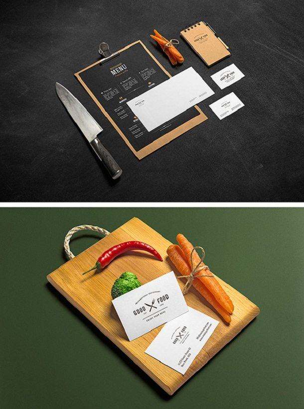 2 Restaurant And Bar MockUps