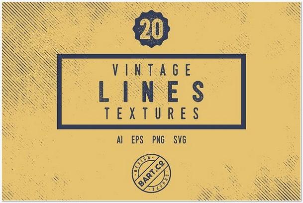 20 Vintage Line Textures
