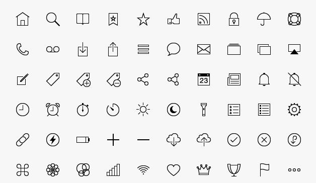 200 iOS8 Style Tab Bar Icons