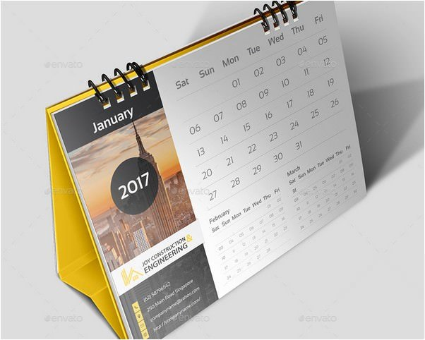 2018 Construction Desk Calender