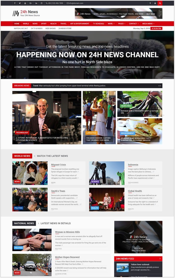 24h News - Broadcast Template