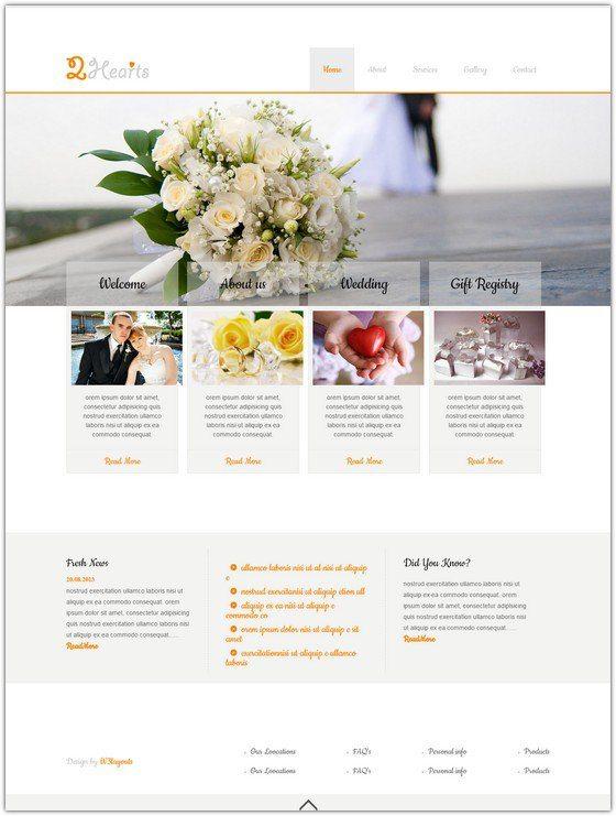 2Hearts a wedding planner Website Template