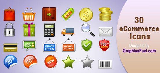 30 E-Commerce Icons