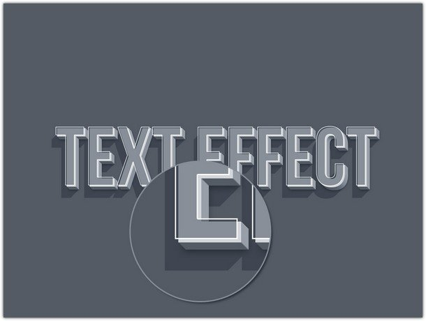 3D Smart Object Text Effect