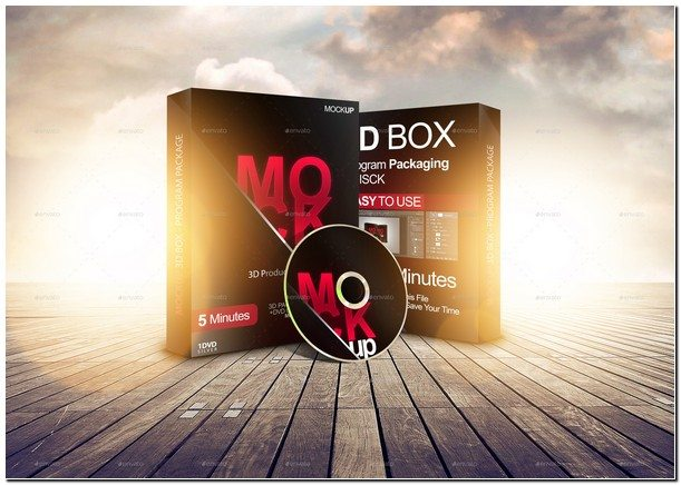 3D box - Software Package - Product Box