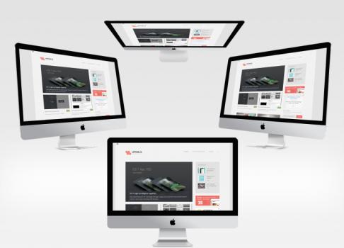 4 New iMac Mockups Set