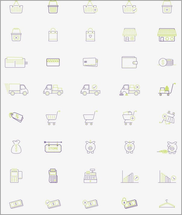 40 Free Ecommerce Ai, Eps & Pdf Vector Icons