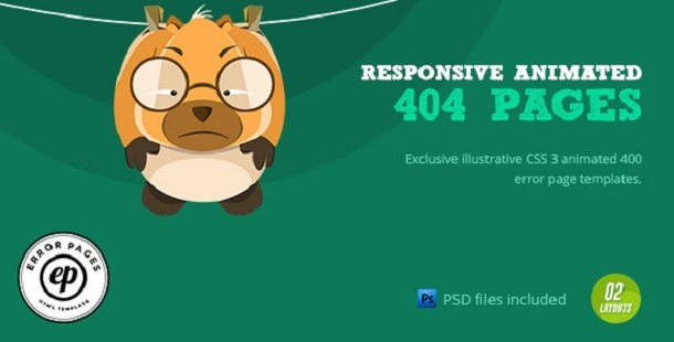 404 Error- CSS Animated Html Template