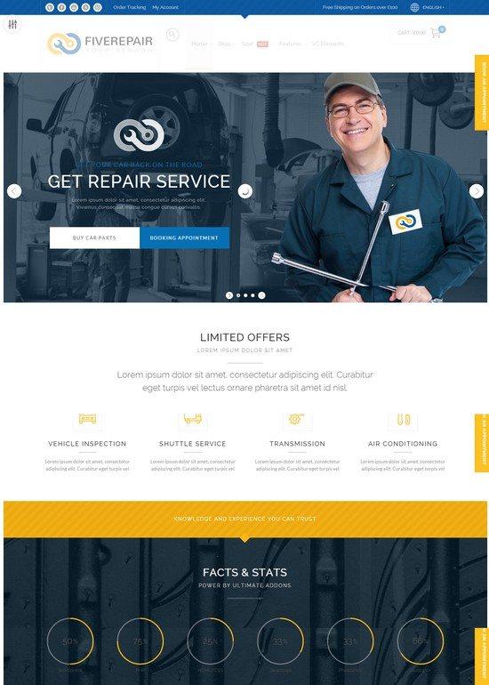 456Repair eCommerce WordPress Theme