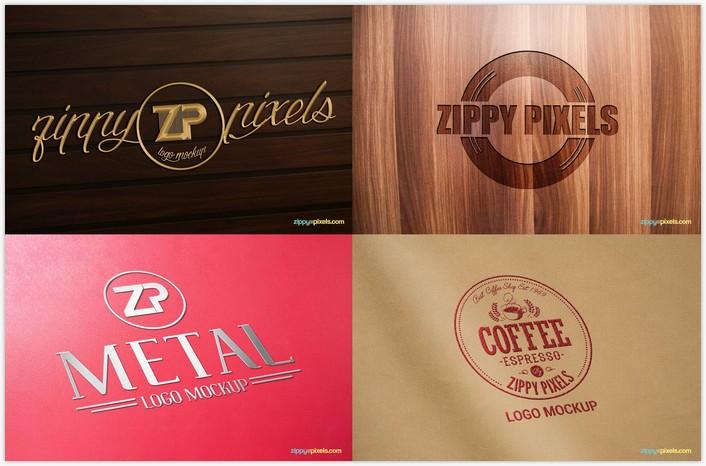5 Free Logo Mockup