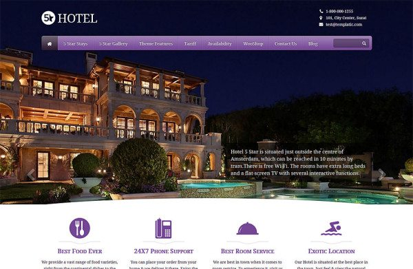 5 Star Showcase and manage your hotel online
