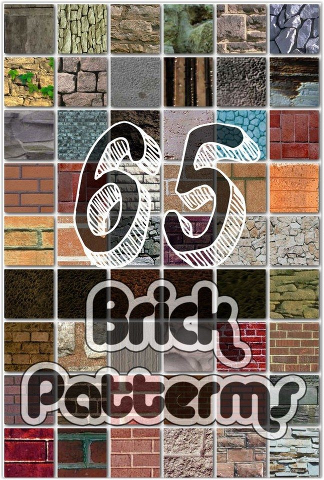 65 Seamless Brick Patterns for Photoshop