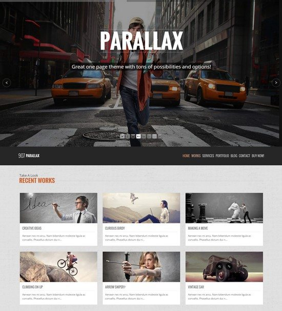 907 - Responsive WP One Page Parallax
