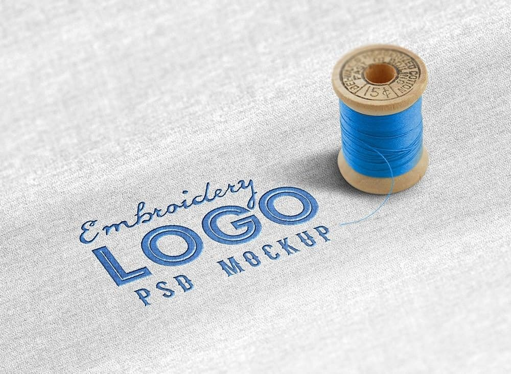 A Realistic Embroidered Logo on a Fabric