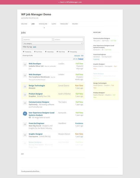 A lightweight, open source job board plugin for WordPress