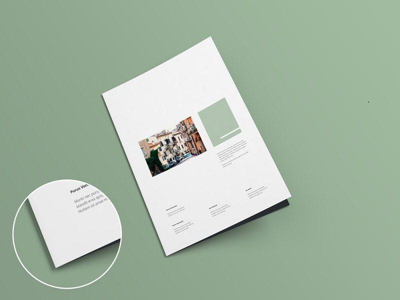 A4 Bi-fold Brochure Mock-up V1.0