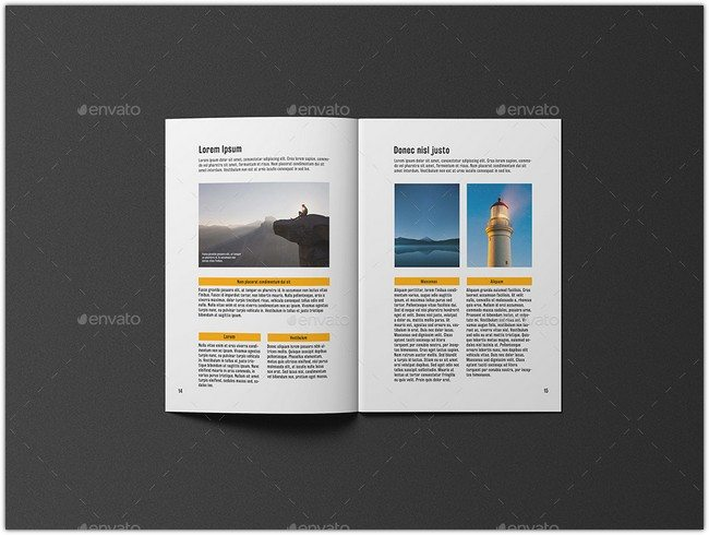 A4 Brochure Catalogue Mockup