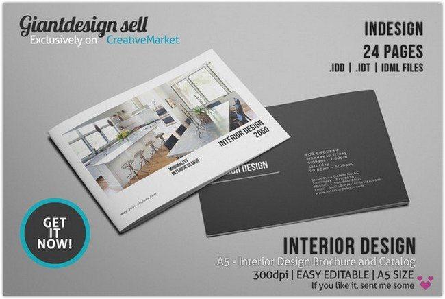 A5 Interior Design Brochure Catalog