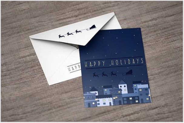 A6 Postcard with Envelope Mock-Up
