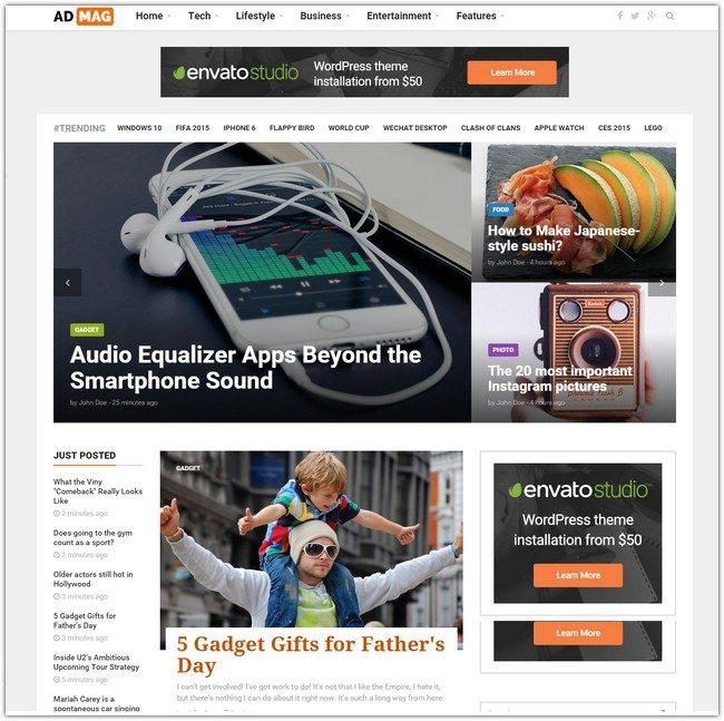 ADMAG - Responsive Blog & Magazine HTML Template
