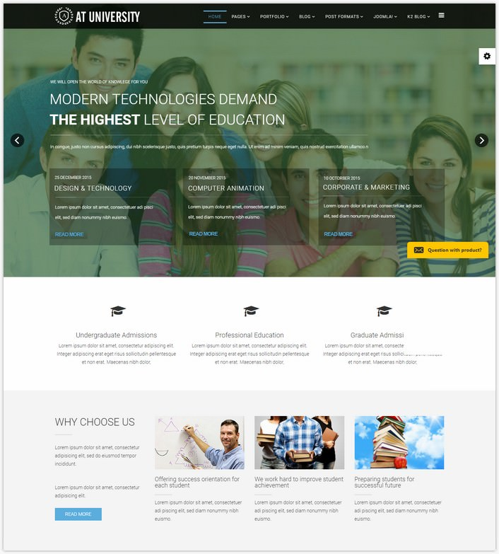 AT University – Free Education Joomla template