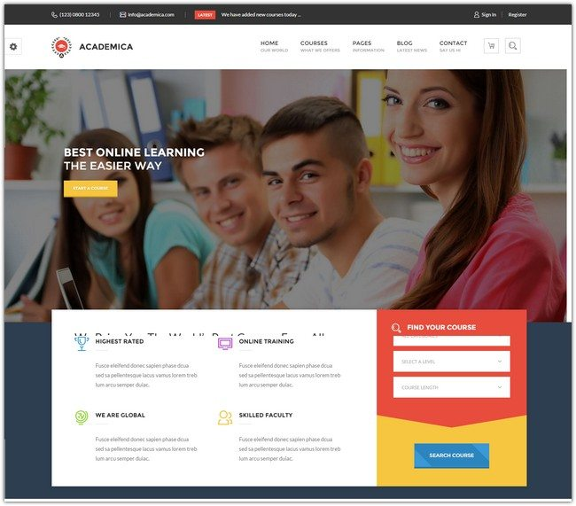 Academica - Educational HTML Theme