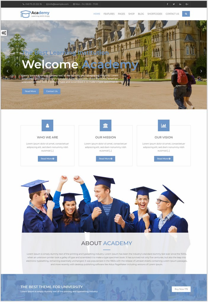 Academy - Ajax Website Template