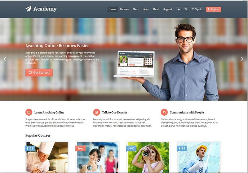 Academy-Learning-Management-Theme