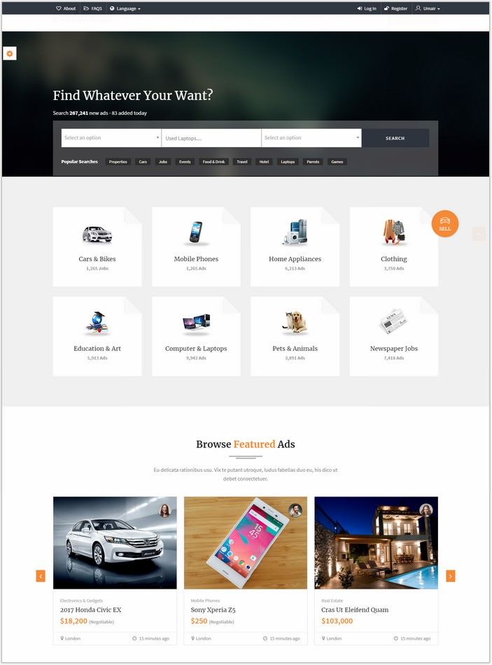 AdForest - Largest Classified Marketplace Ads Template + RTL