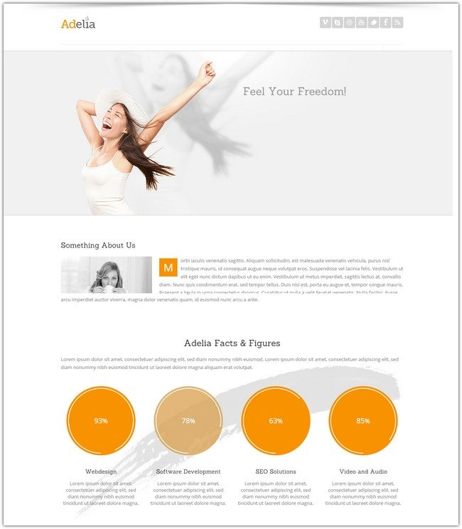 Adelia - Simple and Clean HTML Template