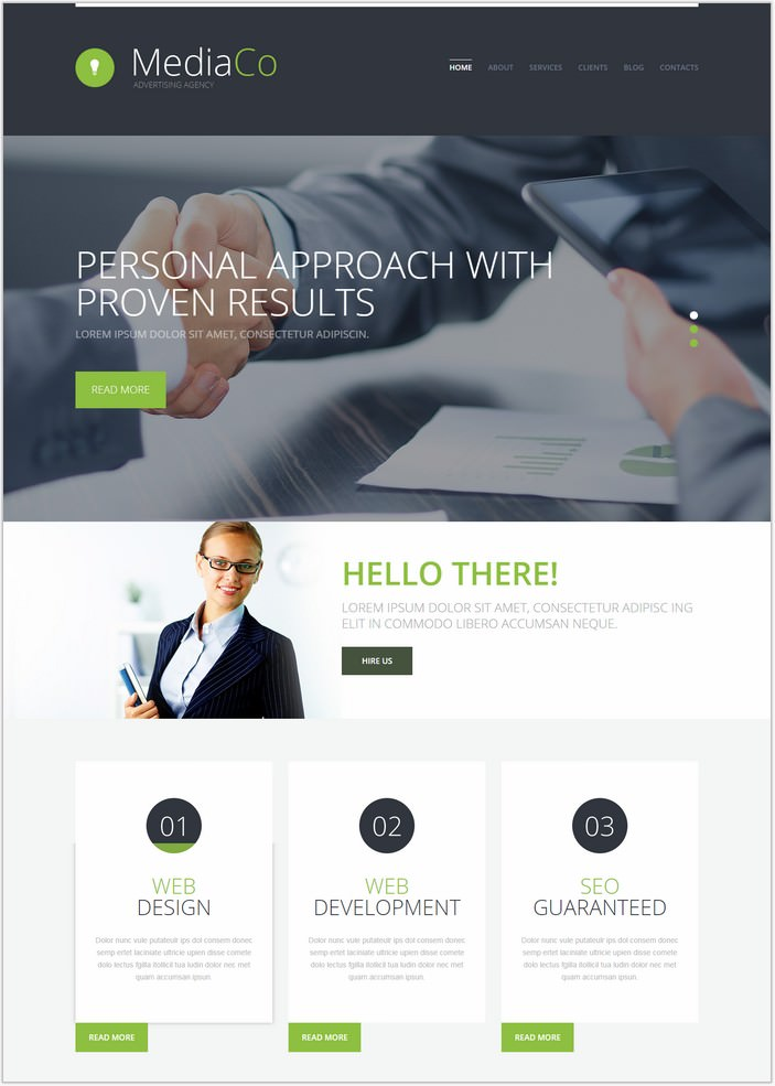 Advertising Agency PHP WordPress Theme