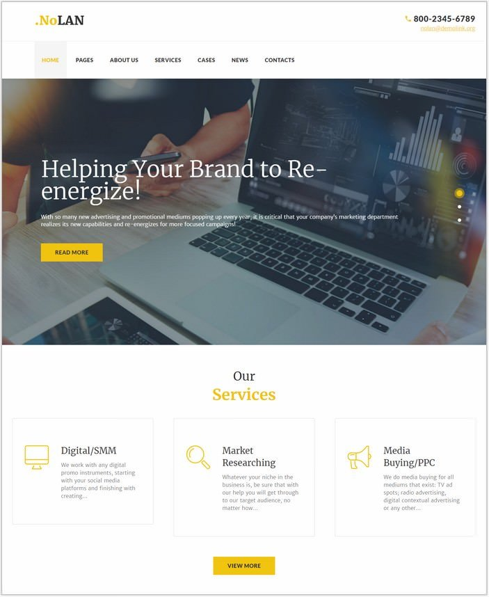 Advertising Agency Responsive WordPress PHP Theme