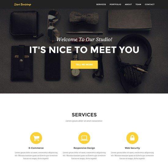 Agency A clean, stylish