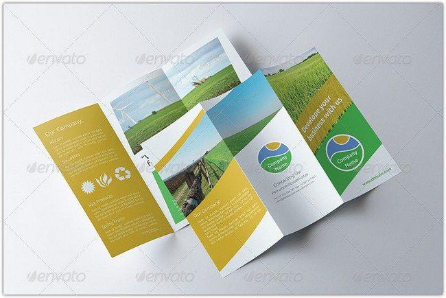 Agriculture Tri-fold Brochure - v006