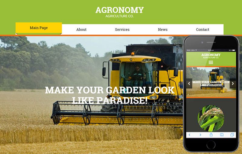 Agriculture CategoryResponsive Web Template