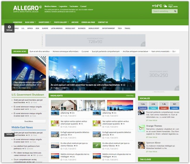Allegro - Multipurpose News, Magazine HTML