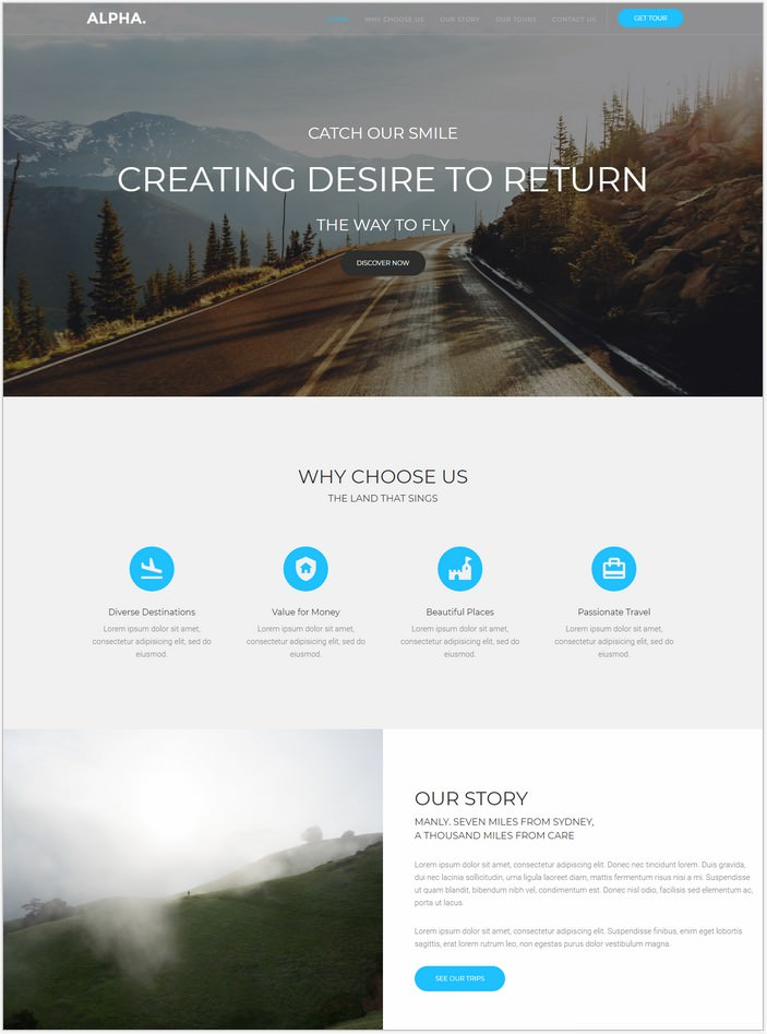 Alpha Dot Travel Agency HTML5 Template