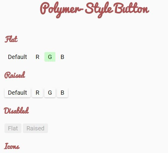 Alternative Polymer Style Buttons