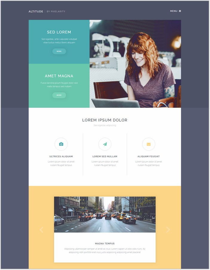 Altitude Website Template