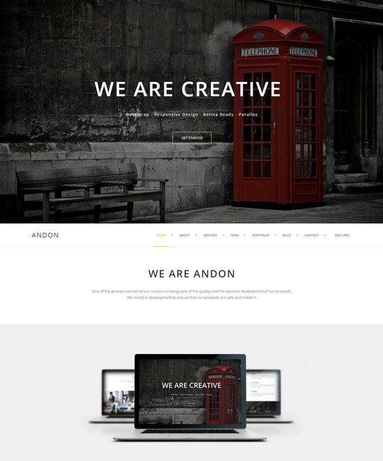 Andon – Responsive Onepage WordPress Theme