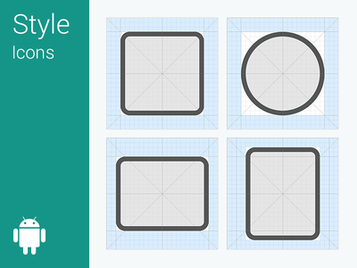 Android L – Icon Grid System