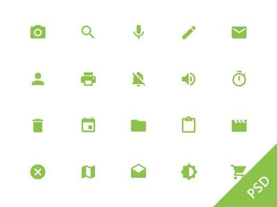 Android L System Icons