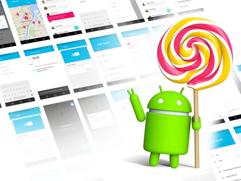 Android Lollipop UI Kit .sketch resource